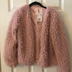H&M's Pink feather jacket/blazer
